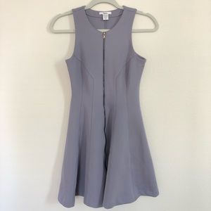 Lavender peplum style dress